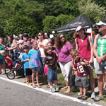 Spectators along parade route